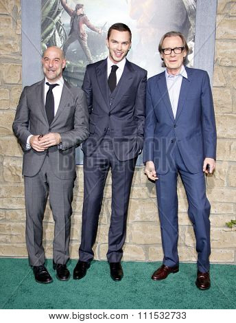 Stanley Tucci, Nicholas Hoult and Bill Nighy at the Los Angeles premiere of