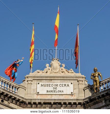 Wax Museum In Barcelona.