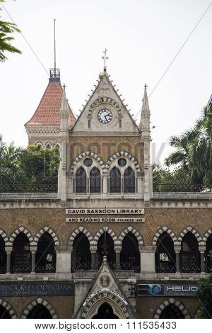 MUMBAI, INDIA - OCTOBER 9, 2015: Building of David Sassoon Library in Mumbai India. This famous library and heritage structure was completed in 1870.