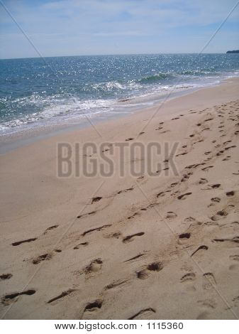 Footprints In The Sand At Bintan, Indonesia