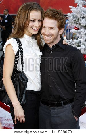 Seth Green and Candace Bailey at the Los Angeles premiere of 'Fred Clause' held at the Grauman's Chinese Theater in Hollywood on November 3, 2007.