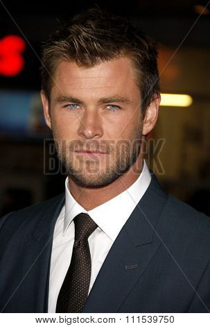 Chris Hemsworth at the Los Angeles premiere of 'Blackhat' held at the TCL Chinese Theatre in Hollywood on January 8, 2015.