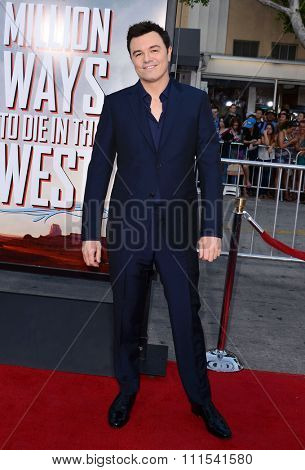 Seth MacFarlane at the Los Angeles premiere of 'A Million Ways To Die In The West' held at the Regency Village Theatre in Los Angeles, United States, 150514.