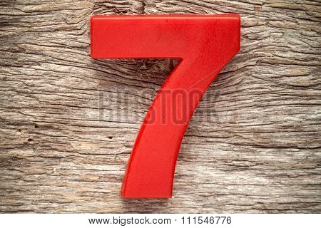 Red Number Seven