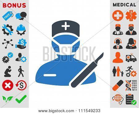 Surgeon Flat Icon
