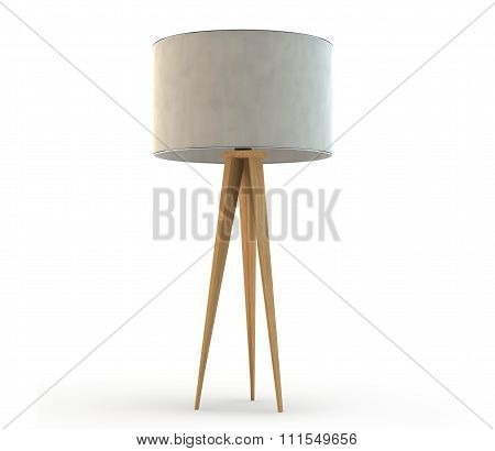 Wood Tripod Lamp