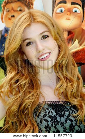 Katherine McNamara at the Los Angeles premiere of 'ParaNorman' held at the Universal CityWalk in Universal City, USA on August 5, 2012.