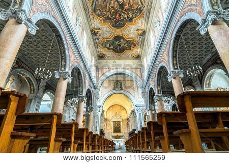 Interior Of Cathedral In Ostuni, Italy