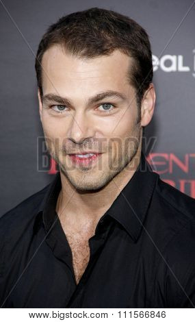 LOS ANGELES, CA - SEPTEMBER 12, 2012: Shawn Roberts at the Los Angeles premiere of 'Resident Evil: Retribution' held at the Regal Cinemas L.A. Live in Los Angeles, USA on September 12, 2012.