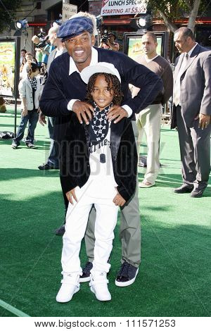 WESTWOOD, CA - OCTOBER 26, 2008: Will Smith and Jaden Smith at the Los Angeles premiere of 'Madagascar: Escape 2 Africa' held at the Mann Village Theater in Westwood, USA on October 26, 2008.