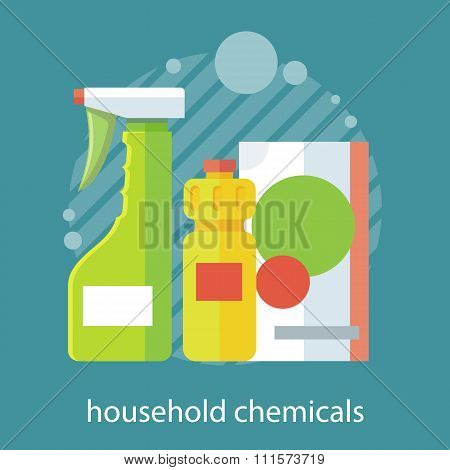 Household Chemical Flat Design