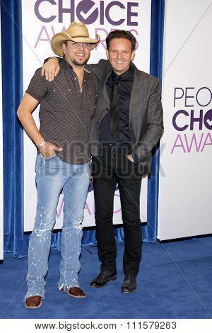 BEVERLY HILLS, CA - NOVEMBER 15, 2012: Jason Aldean and Mark Burnett at the People's Choice Awards 2013 Nominations held at the Paley Center in Beverly Hills, USA on November 15, 2012.