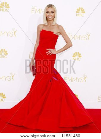 LOS ANGELES, CA - AUGUST 25, 2014: Giuliana Rancic at the 66th Annual Primetime Emmy Awards held at the Nokia Theatre L.A. Live in Los Angeles, USA on August 25, 2014.