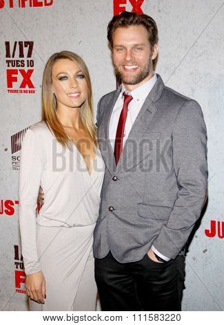 HOLLYWOOD, CA - JANUARY 10, 2012: Natalie Zea at the Season 3 premiere screening of 'Justified' held at the DGA Theater in Los Angeles, USA on January 20, 2012,