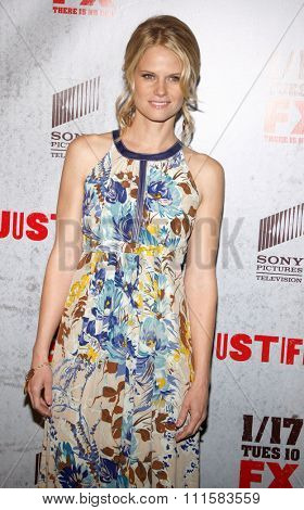 HOLLYWOOD, CA - JANUARY 10, 2012: Joelle Carter at the season 2 premiere of FX's 'Justified' held at the DGA Theater in Hollywood, USA on January 10, 2012.