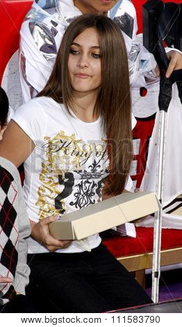 Paris Jackson at the Michael Jackson Hand And Footprint Ceremony held at the Grauman's Chinese Theater in Hollywood, USA on January 26, 2012.