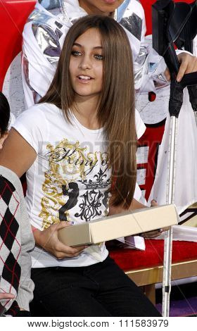 HOLLYWOOD, CA - JANUARY 26, 2012: Paris Jackson at the Michael Jackson Immortalized held at the Grauman's Chinese Theatre in Los Angeles, USA on January 26, 2012.