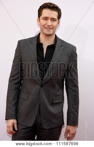 LOS ANGELES, CA - NOVEMBER 23, 2014: Matthew Morrison at the 2014 American Music Awards held at the Nokia Theatre L.A. Live in Los Angeles on November 23, 2014.