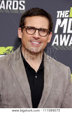CULVER CITY, CA - APRIL 14, 2013: Steve Carell at the 2013 MTV Movie Awards held at the Sony Pictures Studios in Culver City, CA on April 14, 2013.