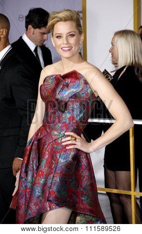 LOS ANGELES, CA - NOVEMBER 17, 2014: Elizabeth Banks at the Los Angeles premiere of 'The Hunger Games: Mockingjay - Part 1' held at the Nokia Theatre L.A. Live in Los Angeles, USA.