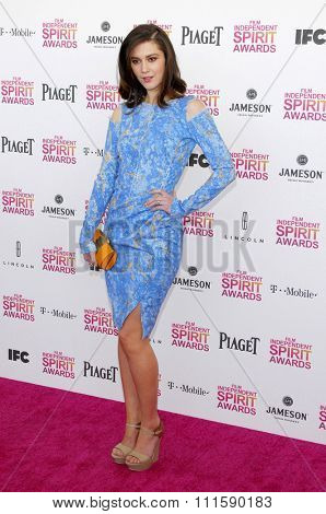 Mary Elizabeth Winstead at the 2013 Film Independent Spirit Awards held at the Santa Monica Beach in Los Angeles, United States on February 23, 2013.