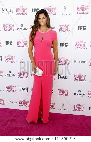 Camila Alves at the 2013 Film Independent Spirit Awards held at the Santa Monica Beach in Los Angeles, United States on February 23, 2013.