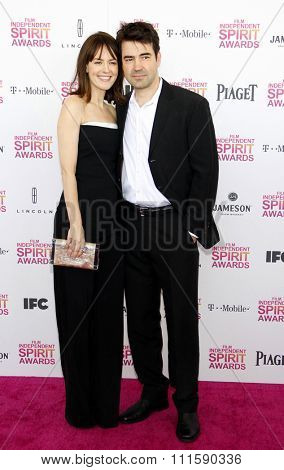 Ron Livingston and Rosemarie DeWitt at the 2013 Film Independent Spirit Awards held at the Santa Monica Beach in Los Angeles, United States on February 23, 2013.