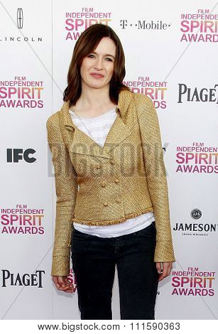 Emily Mortimer at the 2013 Film Independent Spirit Awards held at the Santa Monica Beach in Los Angeles, United States on February 23, 2013.