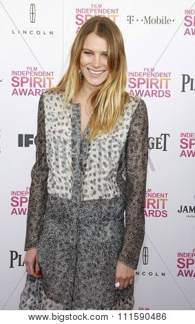 Dree Hemingway at the 2013 Film Independent Spirit Awards held at the Santa Monica Beach in Los Angeles, United States on February 23, 2013.
