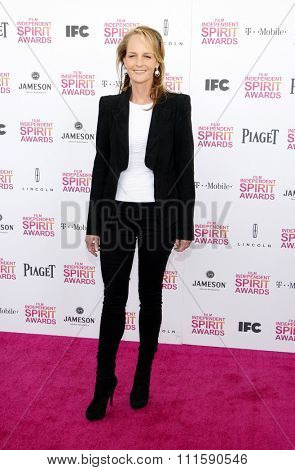Helen Hunt at the 2013 Film Independent Spirit Awards held at the Santa Monica Beach in Los Angeles, United States on February 23, 2013.