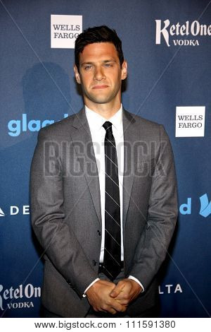 Justin Bartha at the 24th Annual GLAAD Media Awards held at the JW Marriott Los Angeles at L.A. LIVE in Los Angeles, USA on April 20, 2013.