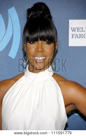 Kelly Rowland at the 24th Annual GLAAD Media Awards held at the JW Marriott Los Angeles at L.A. LIVE in Los Angeles, USA on April 20, 2013.