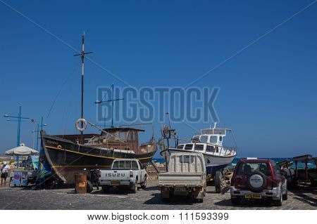 Ayia Napa, Cyprus, Fishing Boats And Yachts
