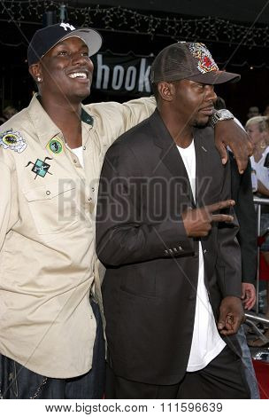 WESTWOOD, CALIFORNIA. July 20, 2006. Tyrese Gibson and Bobby Brown at the World premiere of 'Miami Vice' held at the Mann's Village Theater in Westwood, California United States.