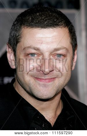 HOLLYWOOD, CALIFORNIA. October 17, 2006. Andy Serkis at the World premiere of 'The Prestige' held at the El Capitan Theatre in Hollywood, USA on October 17, 2006.