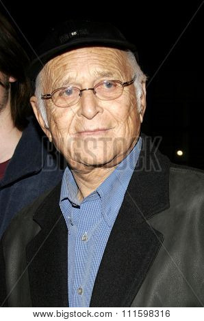HOLLYWOOD, CALIFORNIA. February 7, 2006. Norman Lear attends the Los Angeles Premiere of