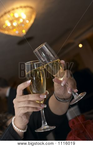 Pair Of Champagne Flutes 2