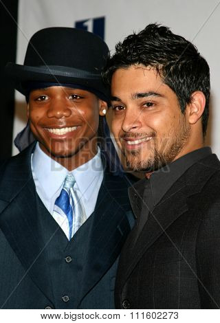 HOLLYWOOD, CALIFORNIA - June 11, 2005. Ethan Ashley and Wilmer Valderrama attend at the 19th Annual Fulfillment Fund