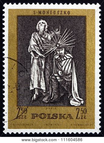 Postage Stamp Poland 1972 Paria, Scene From Opera