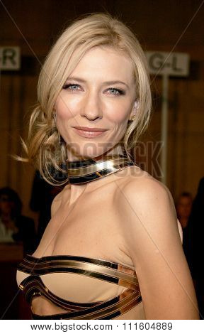 HOLLYWOOD, CALIFORNIA. December 4, 2006. Cate Blanchett attends the Los Angeles Premiere of