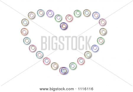 Coração de bolhas