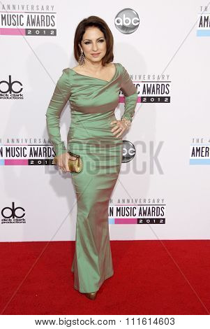 Gloria Estefan at the 2012 American Music Awards held at the Nokia Theatre L.A. Live in Los Angeles, USA on November 18, 2012.