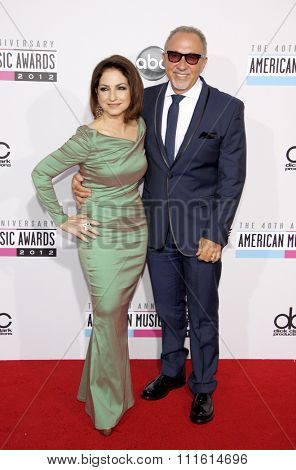 Gloria Estefan and Emilio Estefan at the 2012 American Music Awards held at the Nokia Theatre L.A. Live in Los Angeles, USA on November 18, 2012.