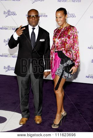 February 8, 2011. L.A. Reid at the Los Angeles premiere of