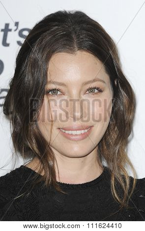 Jessica Biel at the 2015 EMA Awards held at the Warner Bros. Studios in Burbank, USA on October 24, 2015.