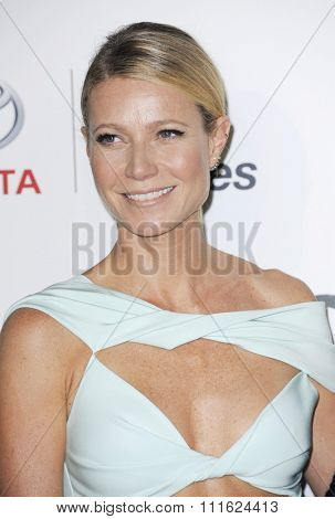 Gwyneth Paltrow at the 2015 EMA Awards held at the Warner Bros. Studios in Burbank, USA on October 24, 2015.