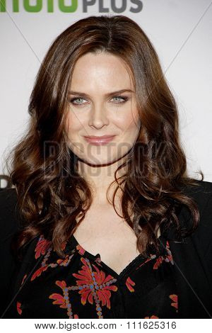 HOLLYWOOD, CALIFORNIA - March 8, 2012. Emily Deschanel at the PaleyFest 2012 Presents