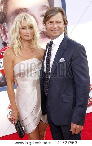 Katherine LaNasa and Grant Show at the Los Angeles premiere of 'The Campaign' held at the Grauman's Chinese Theatre in Hollywood, USA on August 2, 2012.