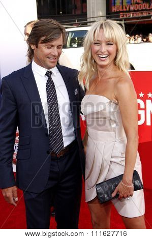 Grant Show and Katherine LaNasa at the Los Angeles premiere of 'The Campaign' held at the Grauman's Chinese Theatre in Hollywood, USA on August 2, 2012.