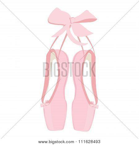 Pink Ballet Pointe